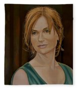 Isabelle Huppert Painting Fleece Blanket