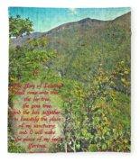 Isaiah 60 13 Fleece Blanket