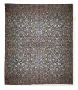 Islamic Wooden Texture Fleece Blanket
