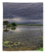 Island And Flowers Fleece Blanket