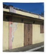 Island Decay Building Fleece Blanket