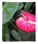 Island Flower Fleece Blanket
