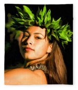 Island Girl 2 Fleece Blanket