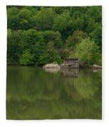 Island House On New River - West Virginia Fleece Blanket