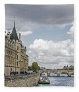 Island In The Seine Fleece Blanket