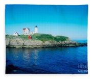 Island Lighthouse Fleece Blanket
