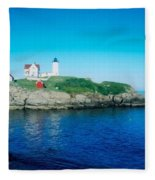 Island Lighthouse Fleece Blanket