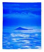 Island Of Yesterday Wide Crop Fleece Blanket