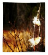 Island Park Cattail Fleece Blanket