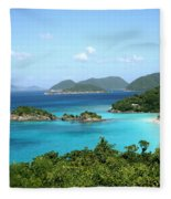 Island Shore Trunk Bay Fleece Blanket