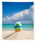 Island Style Easter Egg Fleece Blanket
