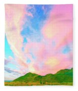 Island Sunrise Fleece Blanket
