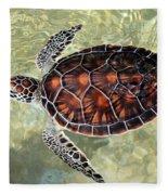 Island Turtle Fleece Blanket