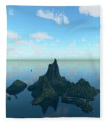 Isle And Sea... Fleece Blanket