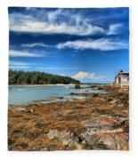 Isle Au Haut House Fleece Blanket