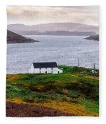Isle Of Skye Cottage Fleece Blanket