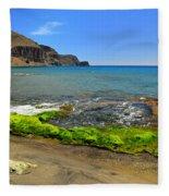 Isleta Del Moro Beach Fleece Blanket
