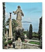 Isola Bella And Lake Maggiore Fleece Blanket