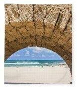 Israel Caesarea Aqueduct  Fleece Blanket