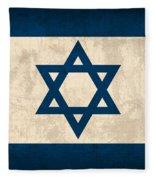 Israel Flag Vintage Distressed Finish Fleece Blanket