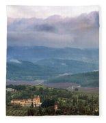 Israel Latron Monastery And Winery Fleece Blanket