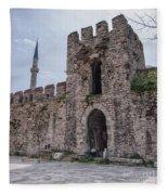 Istanbul City Wall 05 Fleece Blanket