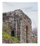 Istanbul City Wall 06 Fleece Blanket