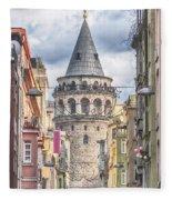 Istanbul Galata Tower Fleece Blanket
