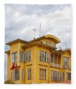 Istanbul Wooden Houses 04 Fleece Blanket