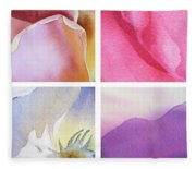 It Is All In Petals Fleece Blanket