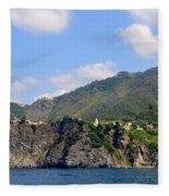 Italian Coastline Fleece Blanket