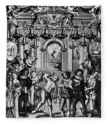Italian Comedians, 1689 Fleece Blanket