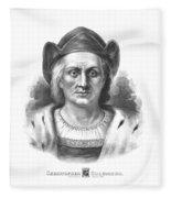 Italian Explorer Christopher Columbus Fleece Blanket