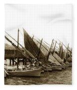 Italian Fishing Boats Fishermen's Wharf San Francisco Circa 1903 Fleece Blanket