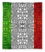 Italian Flag - Italy Stone Rock'd Art By Sharon Cummings Italia Fleece Blanket
