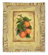Italian Fruit Apricots Fleece Blanket