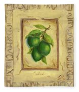 Italian Fruit Limes Fleece Blanket