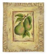 Italian Fruit Pears Fleece Blanket