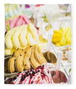 Italian Gelatto Ice Cream Fleece Blanket