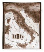 Italian Map Fleece Blanket