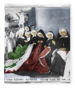 Italian Nuns Fleece Blanket