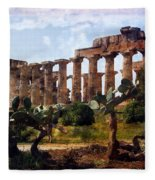 Italian Ruins 1 Fleece Blanket