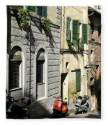 Italian Scooters Fleece Blanket