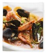 Italian Seafood Stew Fleece Blanket