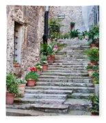 Italian Stairway Fleece Blanket