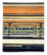 Italian Train Station Fleece Blanket