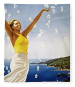 Italian Travel Poster, 1951 Fleece Blanket