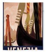 Italian Travel Poster, C1920 Fleece Blanket