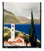 Italian Travel Poster, C1930 Fleece Blanket