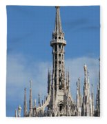 The Spire Of Milan Cathedral Fleece Blanket